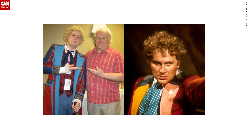 "<a href=""http://ireport.cnn.com/docs/DOC-1060781"">Trey Tackett</a> didn't just dress like the colorful Sixth Doctor, he got to meet the man himself, Colin Baker, back in May. ""There was something about the Sixth Doctor that just appealed to me,"" said the Roanoke, Virginia, sales clerk. ""He was brash,  blunt and honest."""