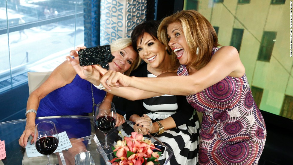 "Kathie Lee Gifford, Kris Jenner and Hoda Kotb pose for a selfie on NBC's ""Today"" show."