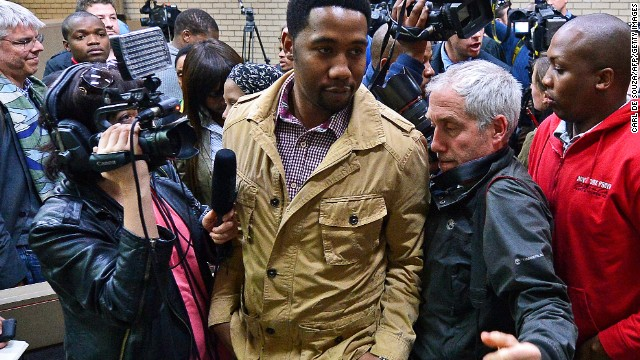 Ndaba Mandela, grandson of Nelson Mandela in the Mthatha high court on July 2, 2013.