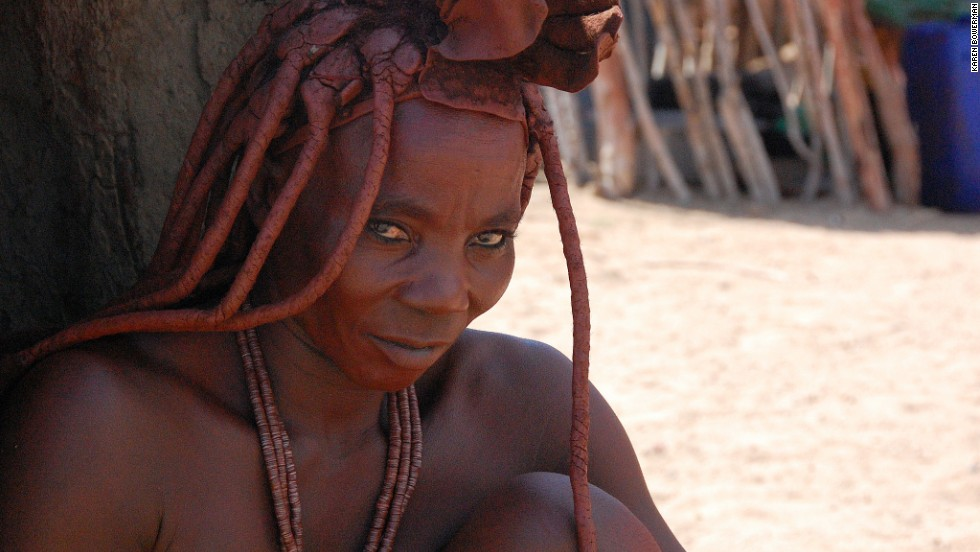The Himba are Namibia's last pastoralists, with a diet consisting solely of meat. The women clean their skins with ocher.