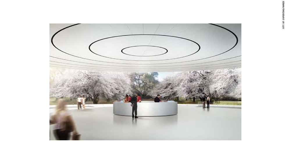 From inside the pavilion, visitors will descend into an underground auditorium with seating for 1,000.