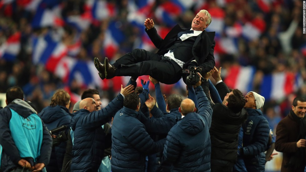 In the stadium where he won the World Cup as a player, France coach Didier Deschamps revels in another famous night at St Denis.