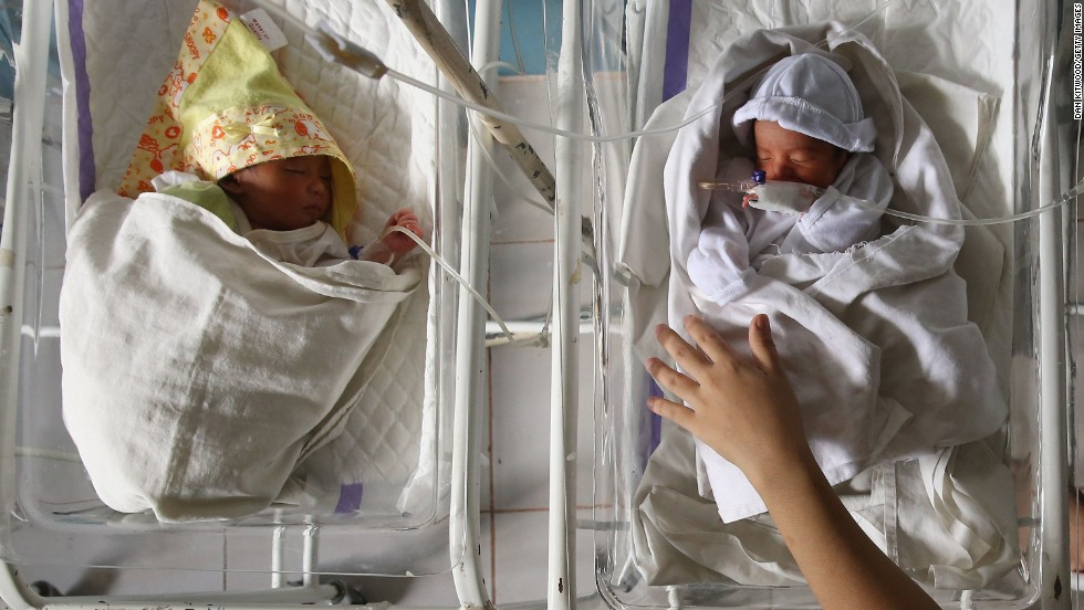 Premature babies sleep November 20 at the Eastern Visayas Medical Center in Tacloban.