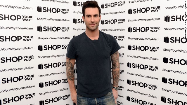 Adam Levine kicks off his collection for ShopYourWay.com and K-Mart on February 21 in New York City.