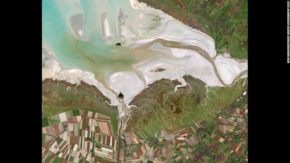 Mont Saint Michel Bay, France.