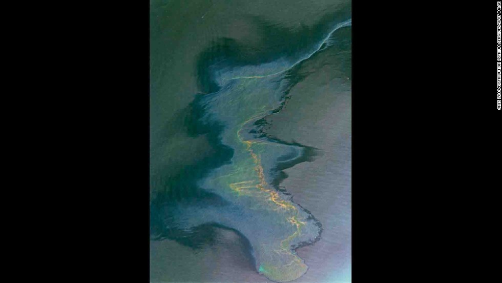 Deepwater Horizon oil spill in the Gulf of Mexico, 2010.