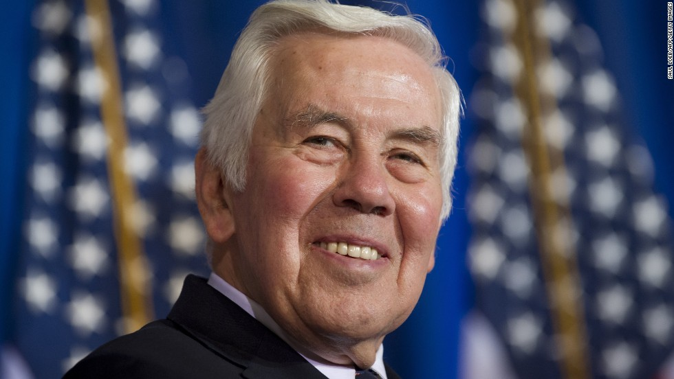 "Former Sen. Richard Lugar of Indiana is being honored for his 30 years of public service in Congress. Lugar, a Republican, ""is best known for his bipartisan leadership and decades-long commitment to reducing the threat of nuclear weapons,"" according to the White House."