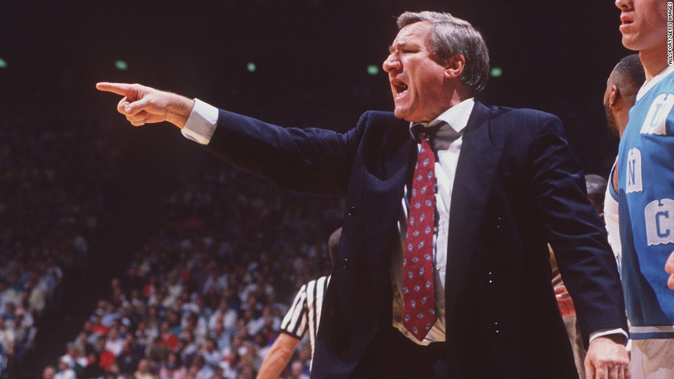 "Dean Smith was the head coach of the University of North Carolina Tar Heels basketball team from 1961 to 1997. During his career, ""ninety-six percent of his players graduated from college,"" the White House said."