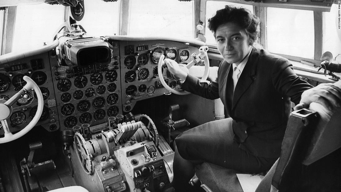 Bulgarian pilot Maria Atanossova was the first woman to pilot a commercial flight into the UK.