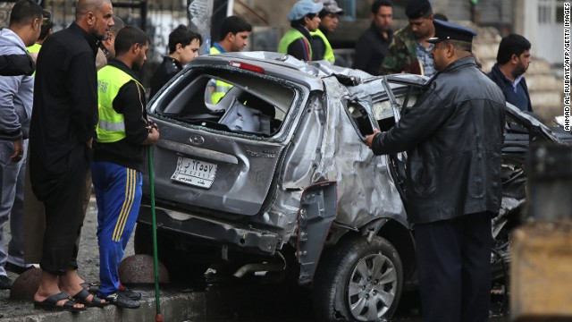 A car bombing was reported in the Karrada neighborhood in central Baghdad on Wednesday.