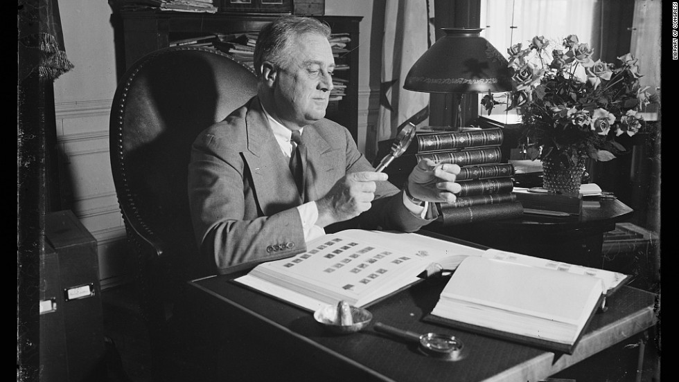 Franklin D. Roosevelt, the only President elected four times, collected stamps throughout his life.