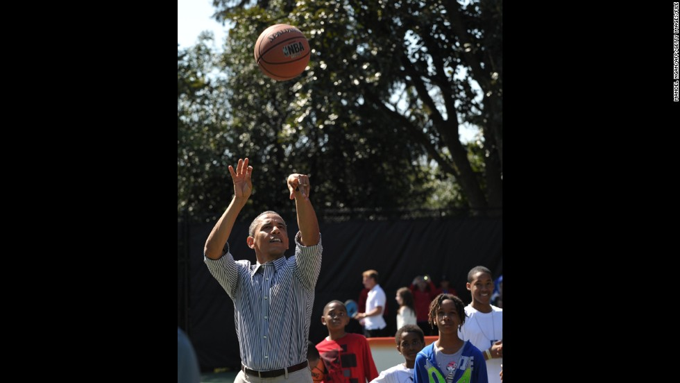 "Barack Obama, the 44th president, is known to <a href=""http://www.cnn.com/2014/06/05/politics/obama-workout-reax/"">enjoy exercising</a> -- so much so that he has released several <a href=""http://www.cnn.com/2016/10/18/health/president-obamas-workout-playlist/"">workout music playlists</a> over the years. What's his favorite athletic activity? <a href=""https://twitter.com/CNN/status/796016718246244352"" target=""_blank"">Basketball</a>, in addition to regularly playing golf."