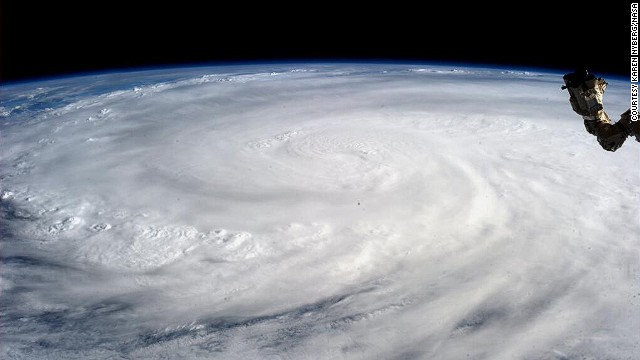 Typhoon Haiyan from space, taken by NASA astronaut Karen Nyberg on November 9.