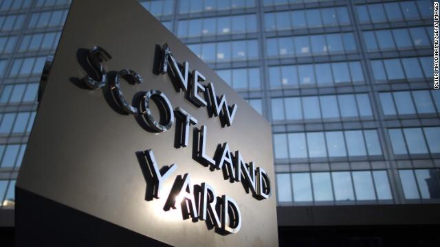Scotland Yard - headquarters of the Metropolitan Police on October 24, 2013 in London, England