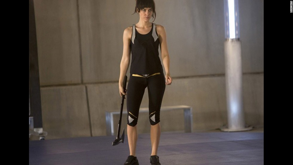 <strong>Weapon of Choice:</strong> Axe<strong>Shining Moment:</strong> Thought to be untrustworthy, Johanna becomes an asset and ally to Katniss, even saving her life.
