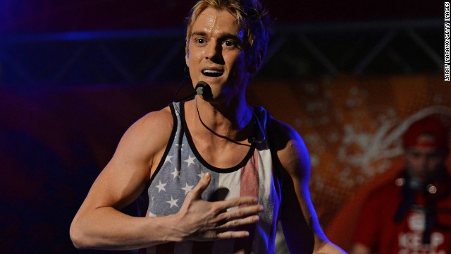 Aaron Carter performs in Miami Florida