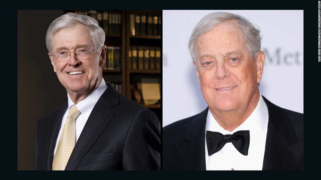 Billionaire brothers Charles Koch and David Koch typically donate millions of dollars to GOP candidates they like, helping them try to defeat their Democratic counterparts. Let's take a look at some of the politicians they've helped in the past, as well as politicians who have been outspoken about their distaste for them.