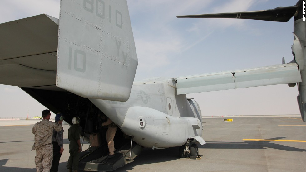 The aircraft has a unique design where the rotors can tilt, giving it the capacity to fly like a helicopter or turboprop plane.