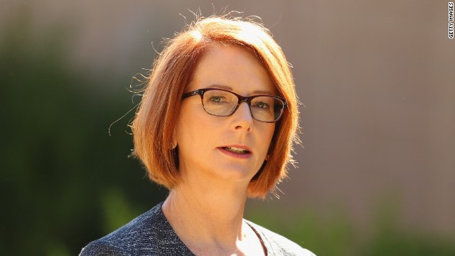 Australian Prime Minister Julia Gillard in March 2013