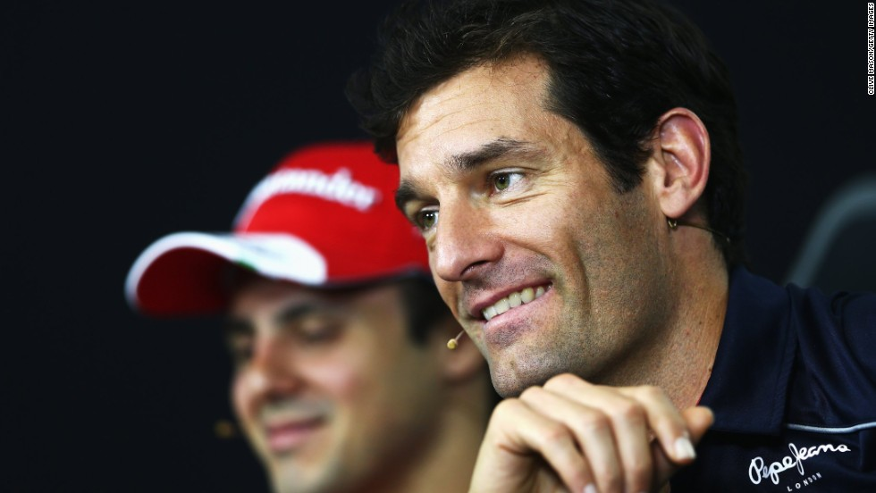 Mark Webber speaking to reporters in Sao Paulo ahead of his final Formula One race at the Brazilian Grand Prix on Sunday.