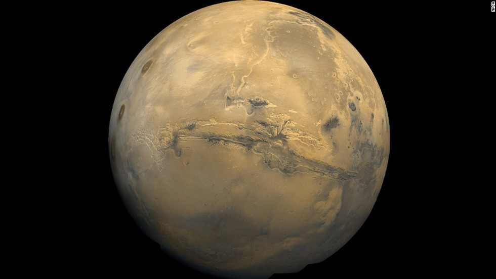 """To celebrate the <a href=""""http://www.cnn.com/2013/11/18/tech/mars-maven-mission/"""">launch of Mars probe MAVEN</a> on  November 18, NASA showed off this mosaic from the Viking 1 Orbiter, which passed by the planet over 30 years ago, on February 22, 1980."""