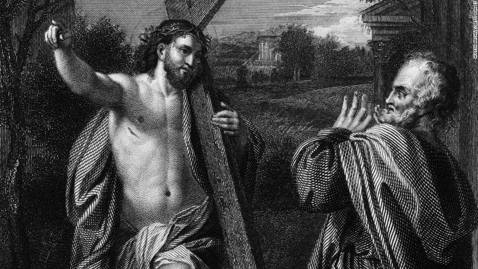 According to Christian teachings, St. Peter was one of the first people to witness the resurrection of Jesus.