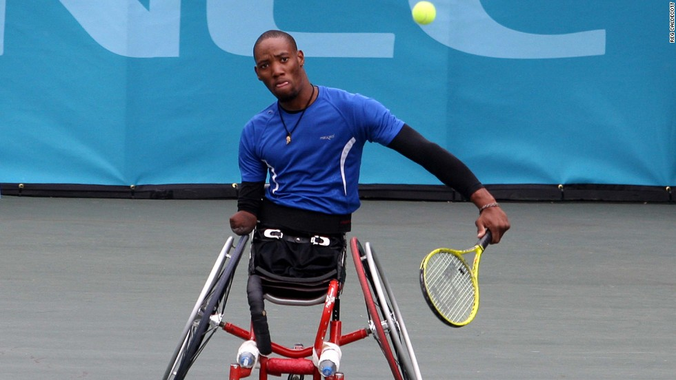 "He played his first international tournament in the Netherlands -- the home of wheelchair legend Esther Vergeer -- in 2006. In his first match he was ""double bageled"" 6-0 6-0."