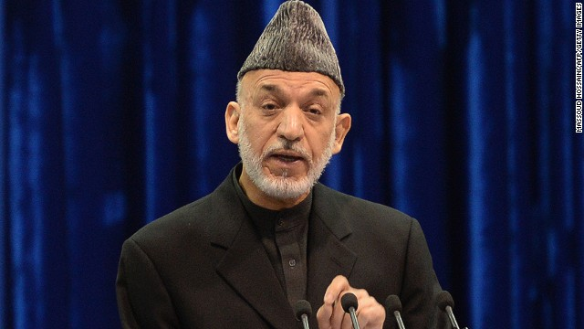 Afghan president Hamid Karzai speaks during loya jirga in Kabul on November 21, 2013.