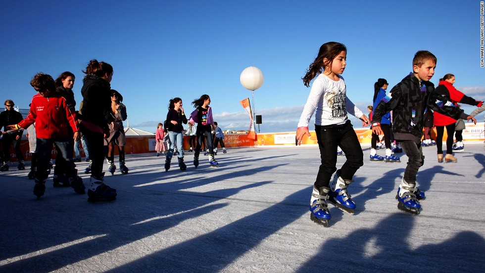 Sydney never sees snow, but during its winter months of June and July, Bondi Beach opens an ice rink right beside the surf. As the largest outdoor rink in the southern hemisphere, it attracts around 30,000 visitors a year.