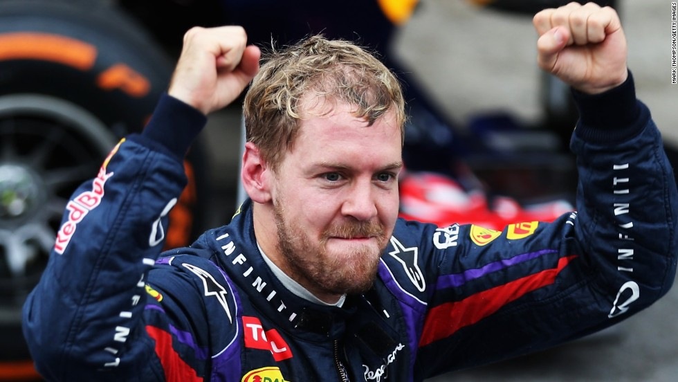 Sebastian Vettel was completing his ninth straight victory and 13th of a triumphant and record breaking 2013 season.