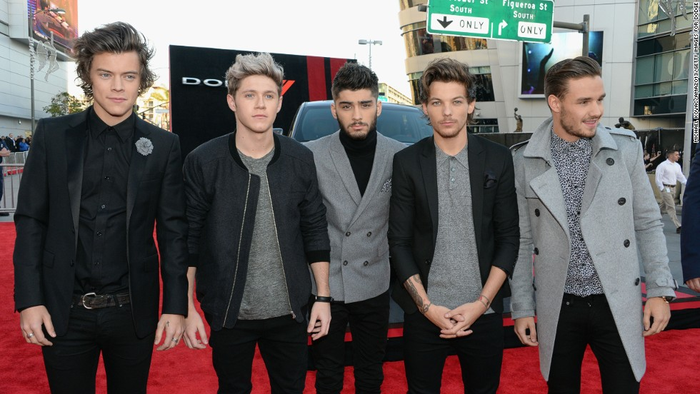 Harry Styles, Niall Horan, Zayn Malik, Louis Tomlinson and Liam Payne of One Direction