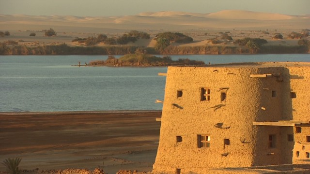 Stunning oasis deep inside the Sahara