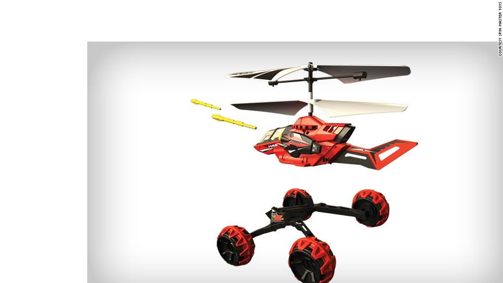 The Drop Strike toy gives military drones a run for their money with the ability to drive, eject from its chassis, fly away and launch (toy) missiles. <br /><br /><em>Price: Around $49.99</em>