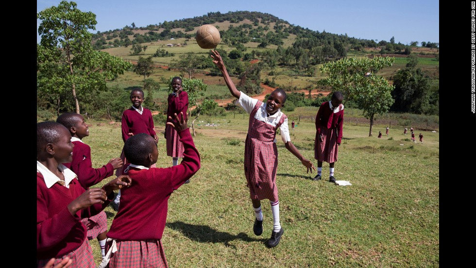 Students at the Kakenya Center receive three meals a day as well as uniforms, books and tutoring.