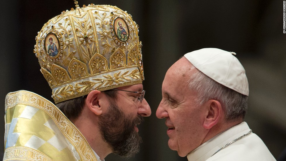 "NOVEMBER 26 - ST. PETER'S BASILICA: Pope Francis meets Ukrainian Major Archbishop Sviatoslav Shevchuk. Vatican marks the conclusion of the Catholic church's ""Year of Faith"" this week. The <a href=""http://www.cnn.com/2013/11/22/opinion/opinion-john-allen-bones-of-peter-eyes-of-faith/index.html"">bones of a man long believed to be St. Peter</a>, one of the founding fathers of the Christian church, are on display for the first time."