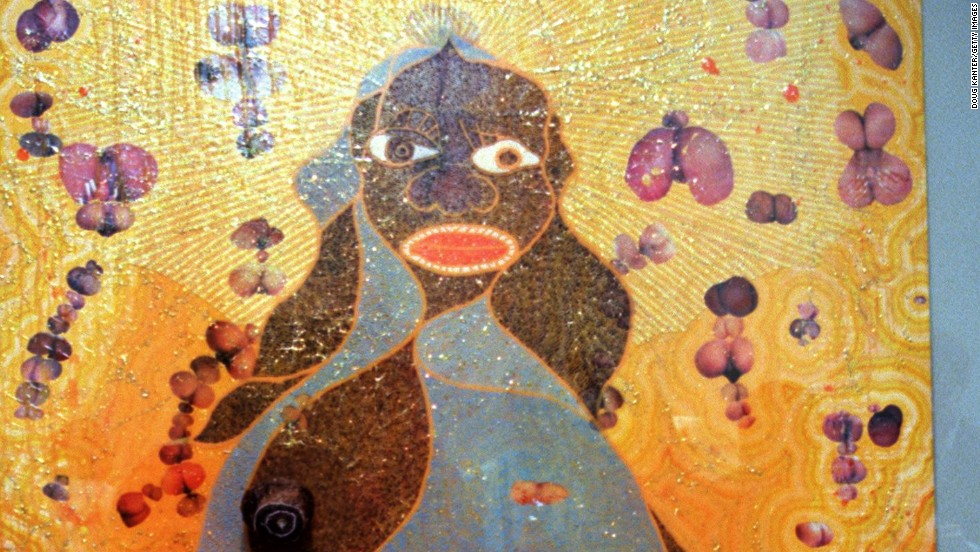 "<em>The Holy Virgin Mary (1996), Chris Ofili</em><br /><br />Chris Ofili's ""The Holy Virgin Mary,"" a Black Madonna surrounded by cut-outs from pornographic magazines and elephant dung, was met with similar outrage, including the public scorn of former mayor of New York City Rudy Giuliani and former U.S. Secretary of State Hillary Clinton, when it won the 1998 Turner Prize. What was seen as simply another blasphemous attempt at provocation was actually a harsh look at the degradation of black women in modern society. (Like Serrano, he was also inspired by Christianity, having been raised in a religious household himself.) <br /><br />What sets Turner-related controversy apart is the positive financial impact it can have on an artist's career, thanks to the award's lofty reputation in the art world. ""However much they're getting (as a prize) is a drop in the ocean compared to the money that they're set to make after that,"" says Alexandra Kokoli, a senior lecturer on visual culture for fine arts at Middlesex University in London. ""It definitely guarantees them far greater cachet and better prices at auction, whether they're interested in that or not."""