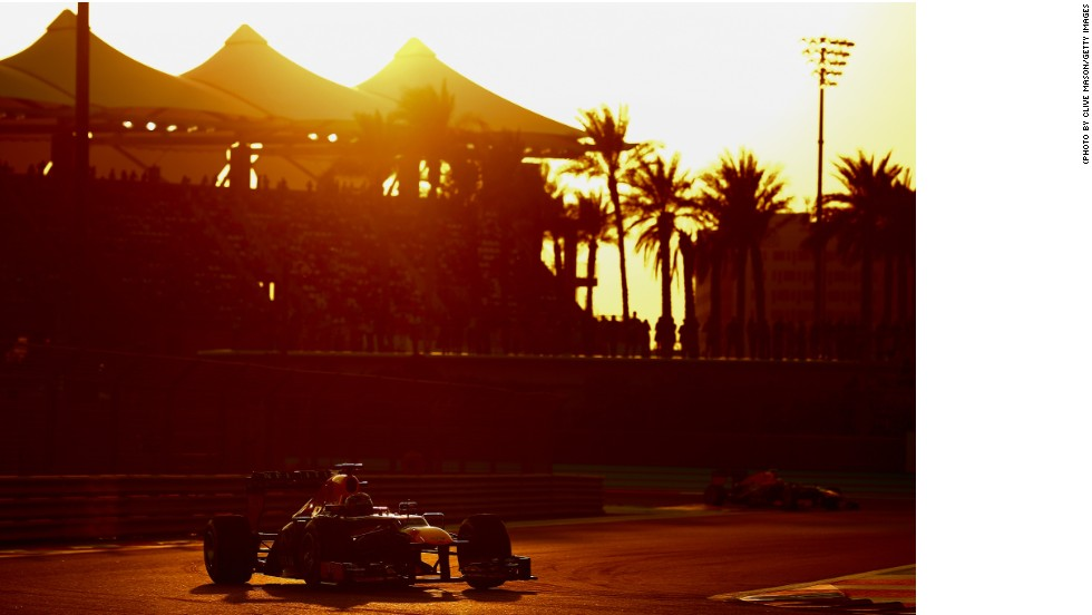 The four time world champion literally sailed off into the sunset at the Abu Dhabi Grand Prix, winning the twilight race by a huge 30.8 seconds.