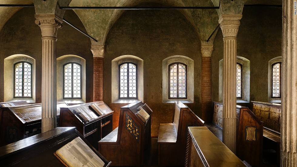 "<strong><br /><br />James Campbe</strong>ll: ""This is the closest you can get to what a medieval library looked like. It was built for Malatesta Novello, a member of a prominent Italian aristocratic family, and it still contains original books, in their original places."""