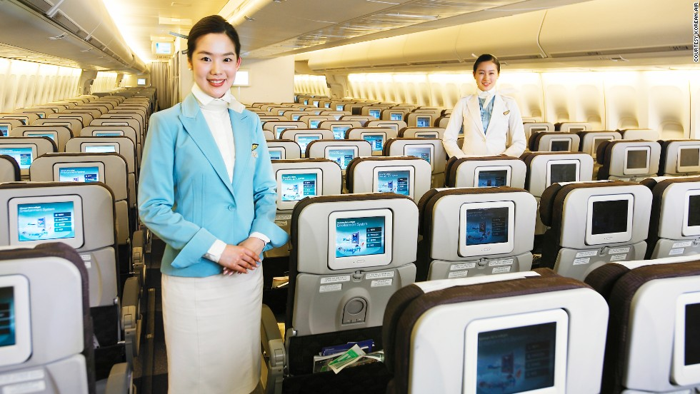 Korean airlines' flight attendant training centers are the global charm schools of the aviation world. Flight attendants from airlines around the world come to learn airborne manners.