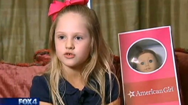 Girl raffles rare doll to help troops