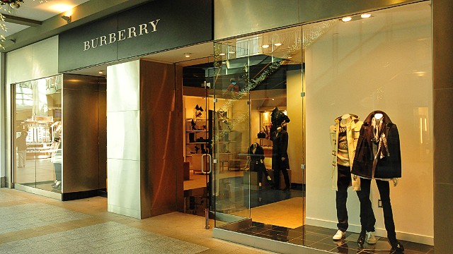 The Burberry store in Lenox Square Mall in Atlanta, GA, November 11, 2011.