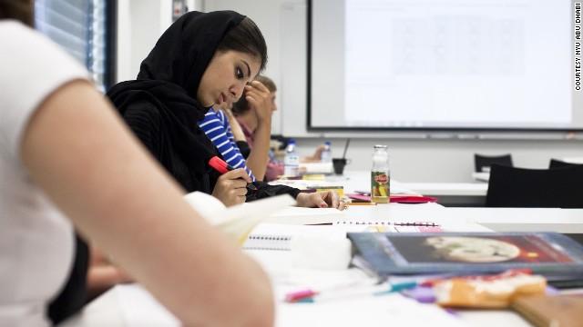 Students at NYU Abu Dhabi
