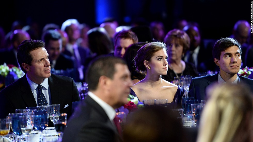Actress Allison Williams watches the show.
