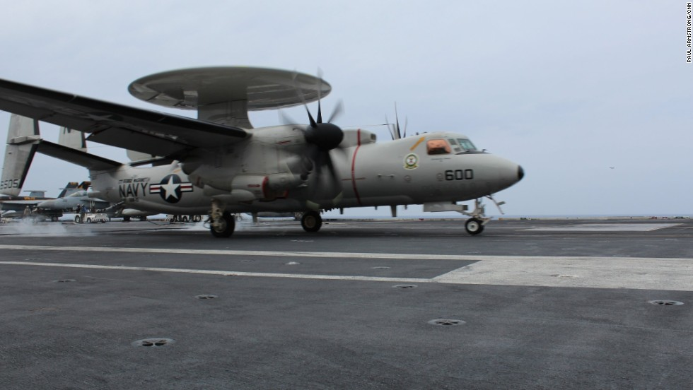 The USS George Washington also has a squadron of surveillance and anti-submarine aircraft ...