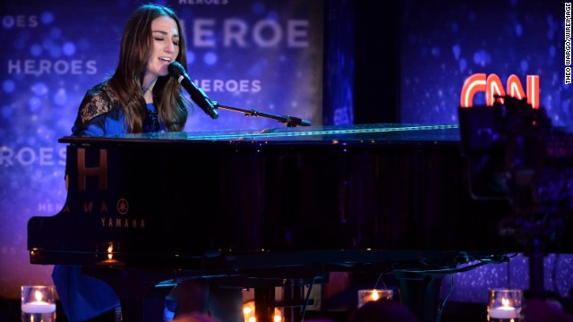 Sara Bareilles says she and Katy Perry don't have any issues between them.