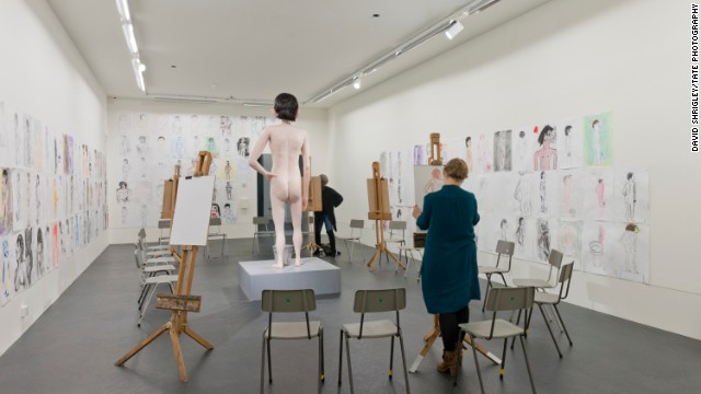 'Life Model' (2012) invited people to draw a nude sculpture.