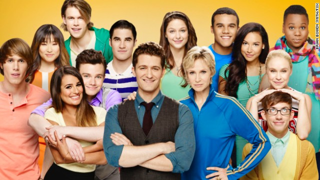 "The cast of the Fox show ""Glee"" in season 5."