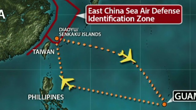 China sends warplanes into disputed zone