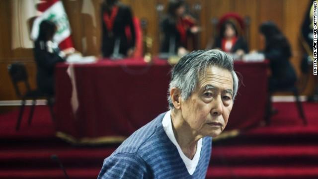 Former Peruvian President Alberto Fujimori appears in court in 2013.