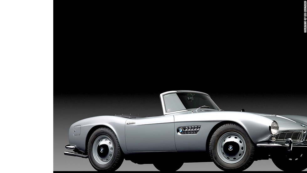 "Elvis Presley bought a white BMW 507 Series II Roadster while he was stationed in Germany with the US Army. This 1958 model was sold for almost $1.7 million at the ""Art of the Automobile"" auction."